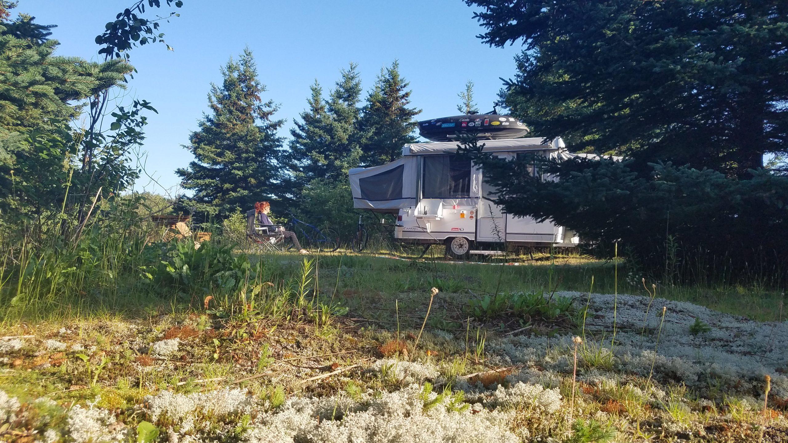 camping en tente roulotte bout d'en bas isle aux coudres