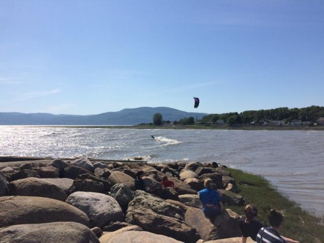 kitesurf isle-aux-coudres quai