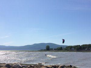 kitesurf quai isle-aux-coudres marée haute