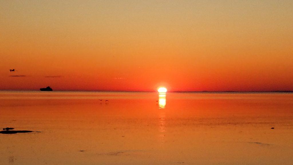 Lever-de-soleil-anse-du-ruisseau-rouge Isle-aux-Coudres charlevoix